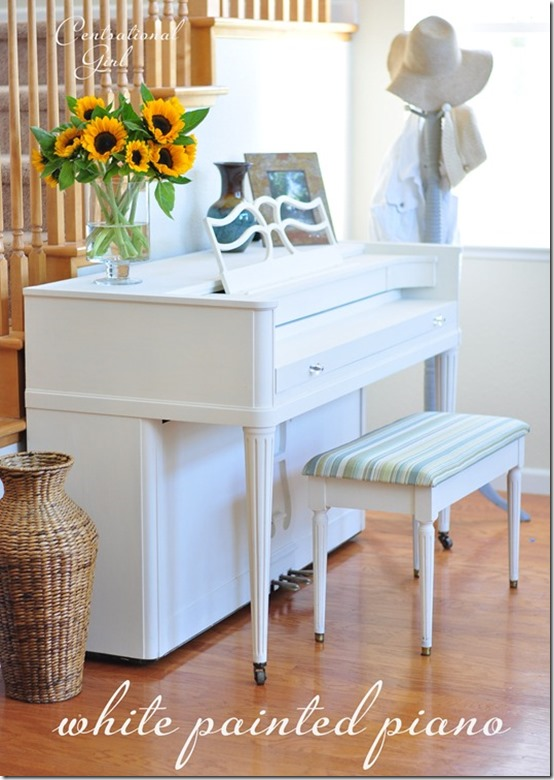 white painted piano centsational girl centsational girl painting furniture