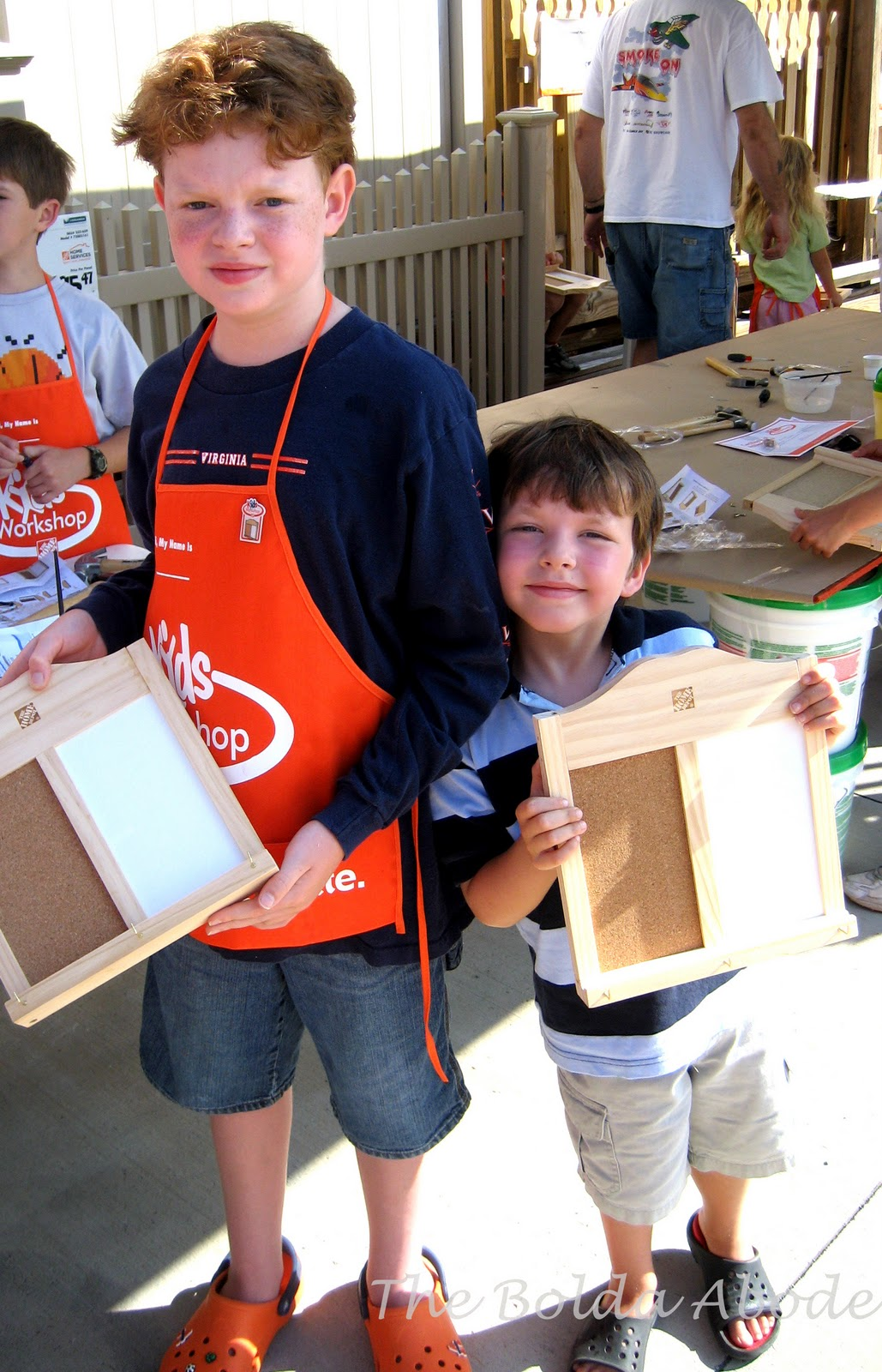 Morgan and Brendan at Home Depot