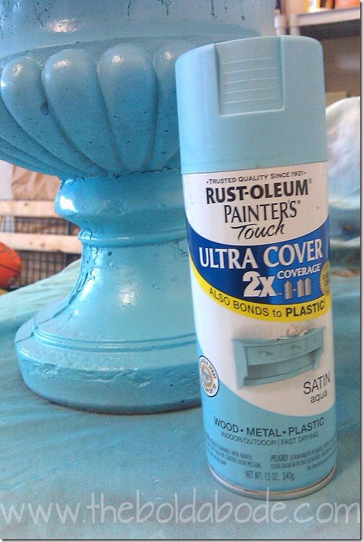 Painted Concrete Planter