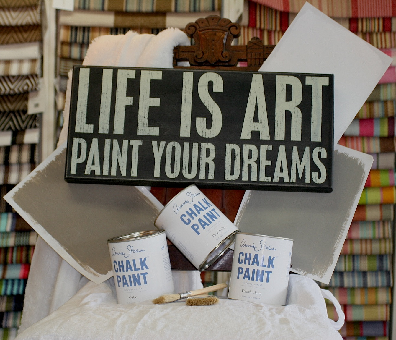 Life is art paint...