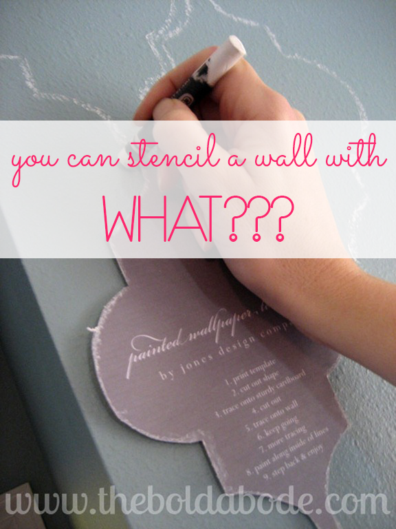 Stenciling-the-wall