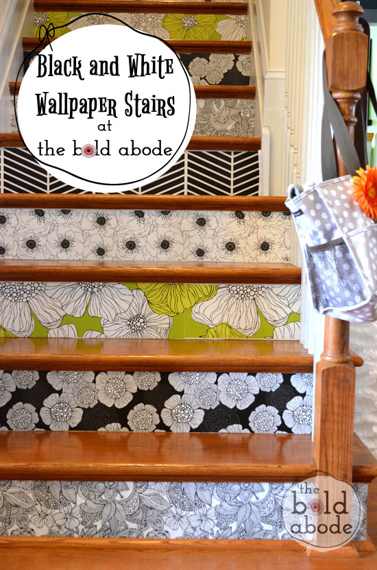 Do your stairs need some personality? Check out these wallpaper stairs and give your stairs a much needed dose of character!