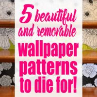 5 Beautiful Wallpaper Patterns to Die For! (plus they are removab