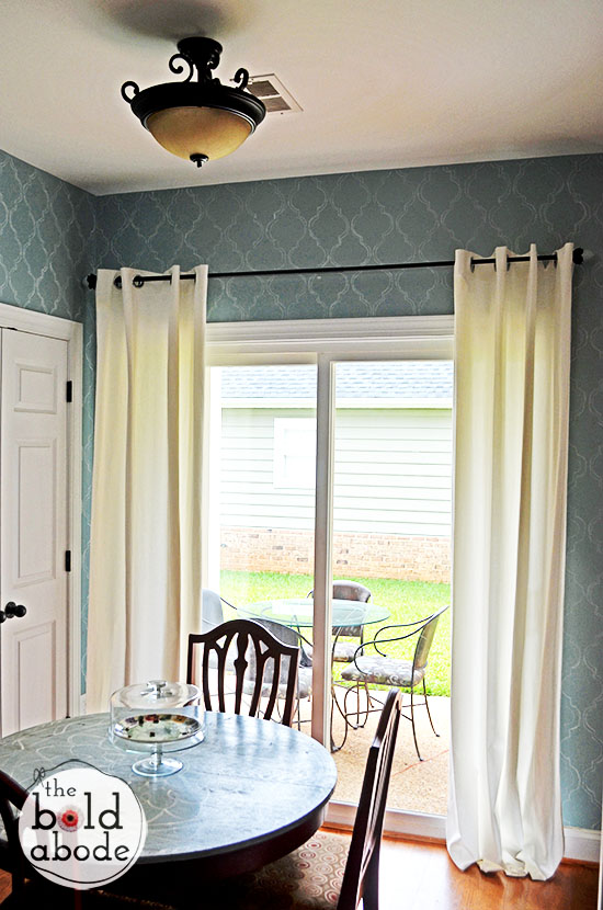 simple white curtains