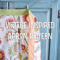 How to Make A Vintage Inspired Apron Pattern