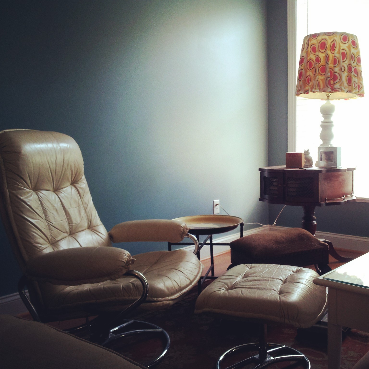 My Eames Era Lounge Chair and The Couch that Bleeds Bold