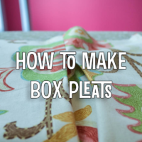 How to Make Box Pleats {Apron Series}