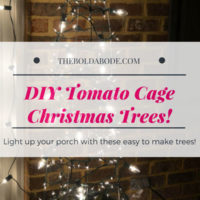 Tomato Cage Christmas Trees: Bring some budget bling to your porc