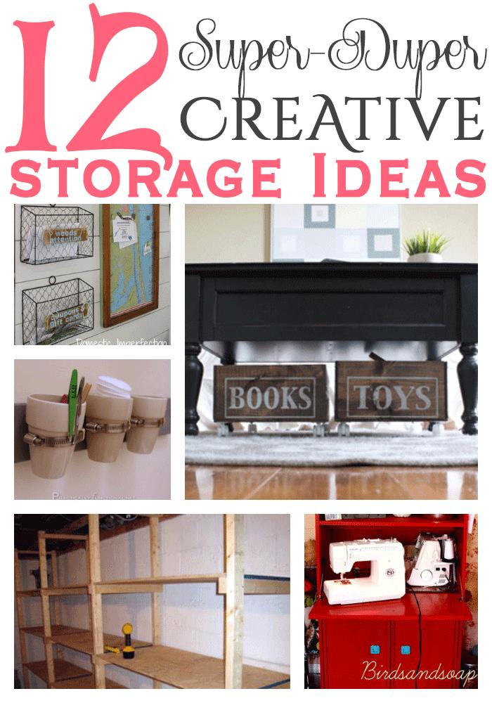 12 super duper creative storage ideas 12 Storage Ideas