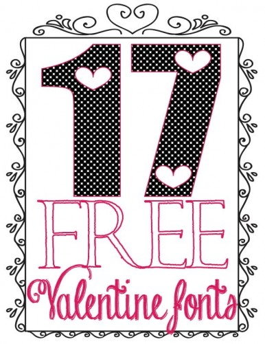 Are you a Font Addict? Here are 17 Free Valentine Fonts that you'll absolutely go gaga over!  How fun are these???