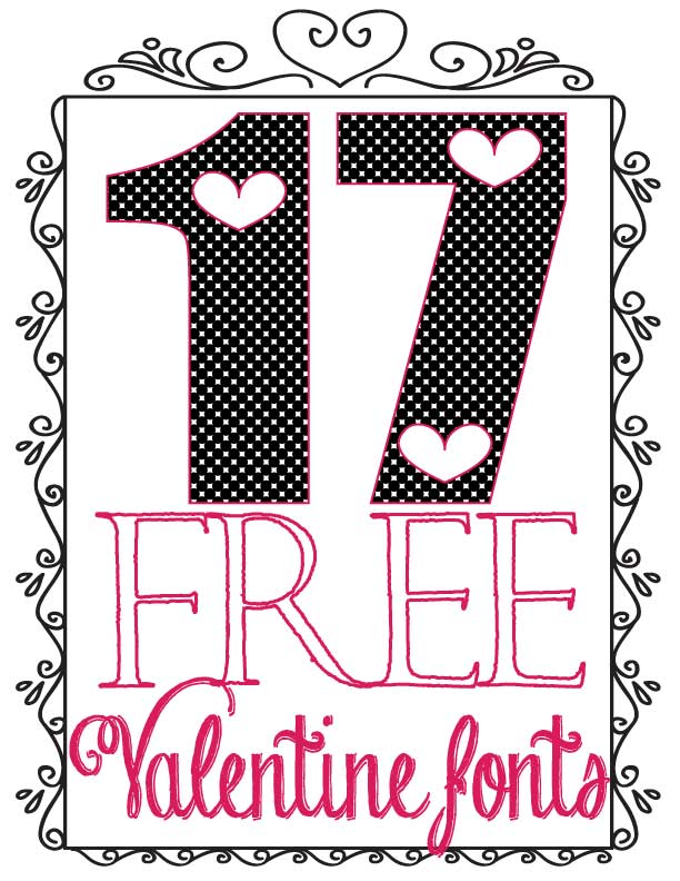 image about Printable Fonts identified as 17 Cost-free Valentine Fonts for My Fellow Font Addicts