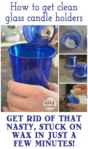 How to Clean Glass Candle Holders