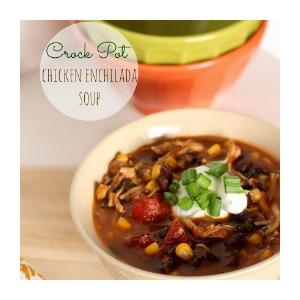 crock pot chicken enchilada soup1