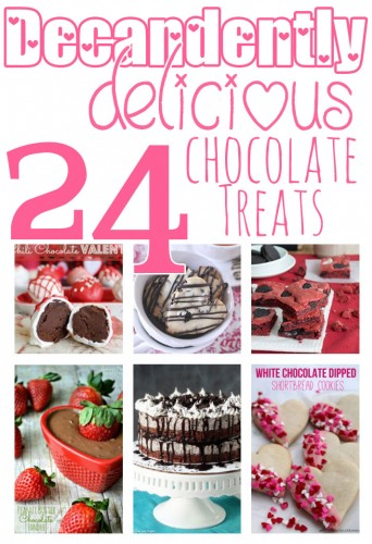 24 Decadently Delicious Chocolate Treats.  The answer to all your chocolate loving dreams!