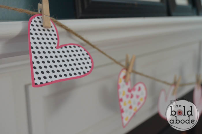 Fun hearts garland