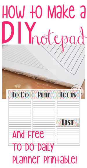 How To Make DIY Notepad Using Hot Glue. Itu0027s SUPER Easy And It Totally Works  Printable Notepad Paper