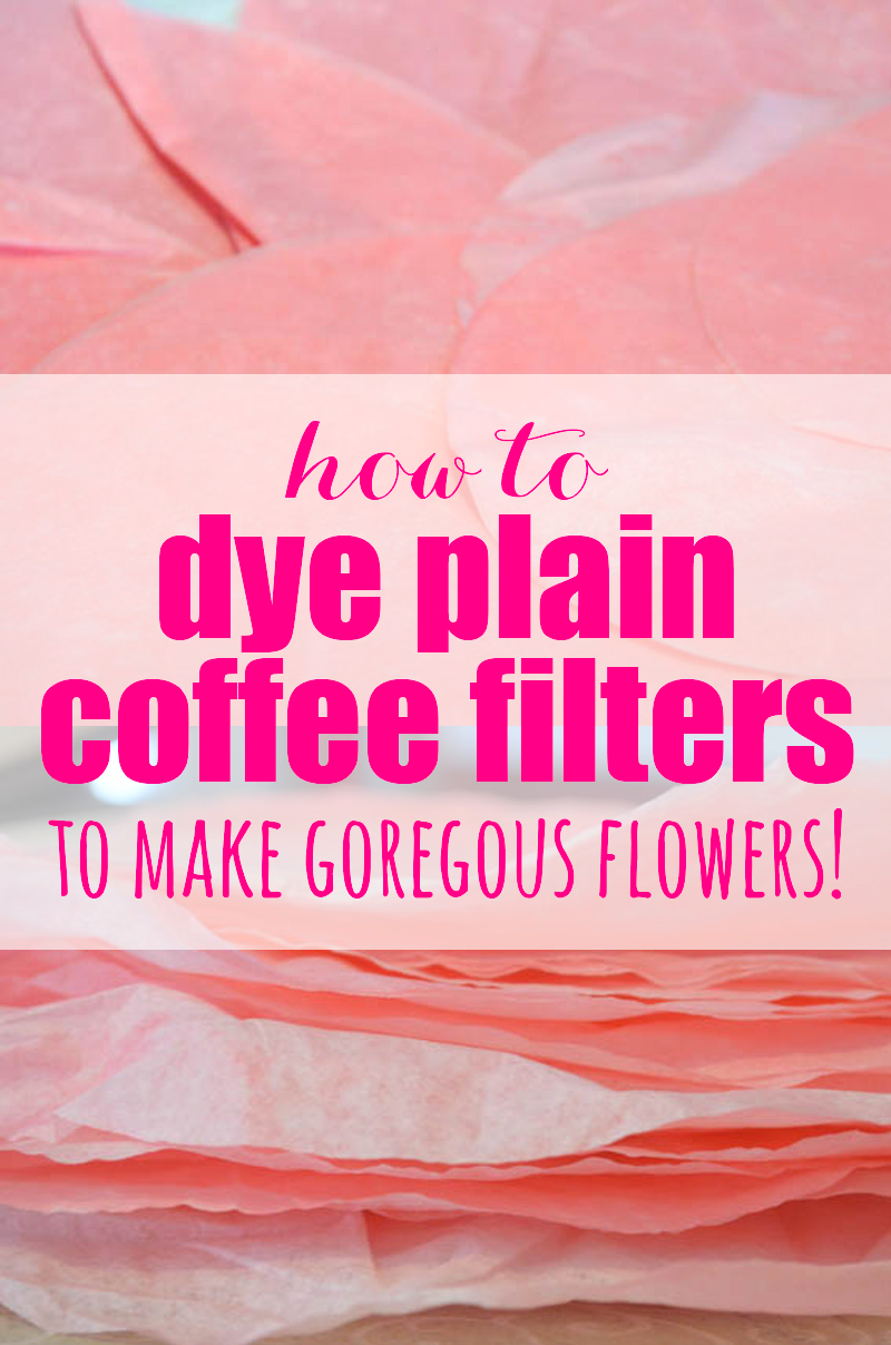 Did you know you can dye coffee filters?  It's really easy and they turn out gorgeous!  It just takes a little paint mixed with water and some drying time.