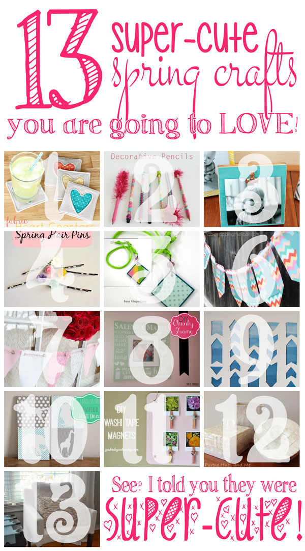 13 Super Cute Spring Crafts that you are going to love! Especially this gorgeous faux Capri Box!!!