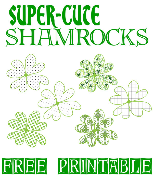 Super Cute Shamrock Printable  The Bold Abode