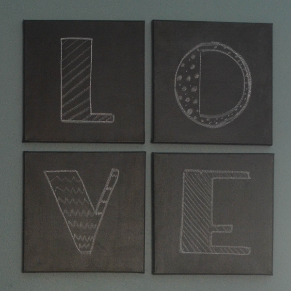 LOVE Chalkboard Canvases