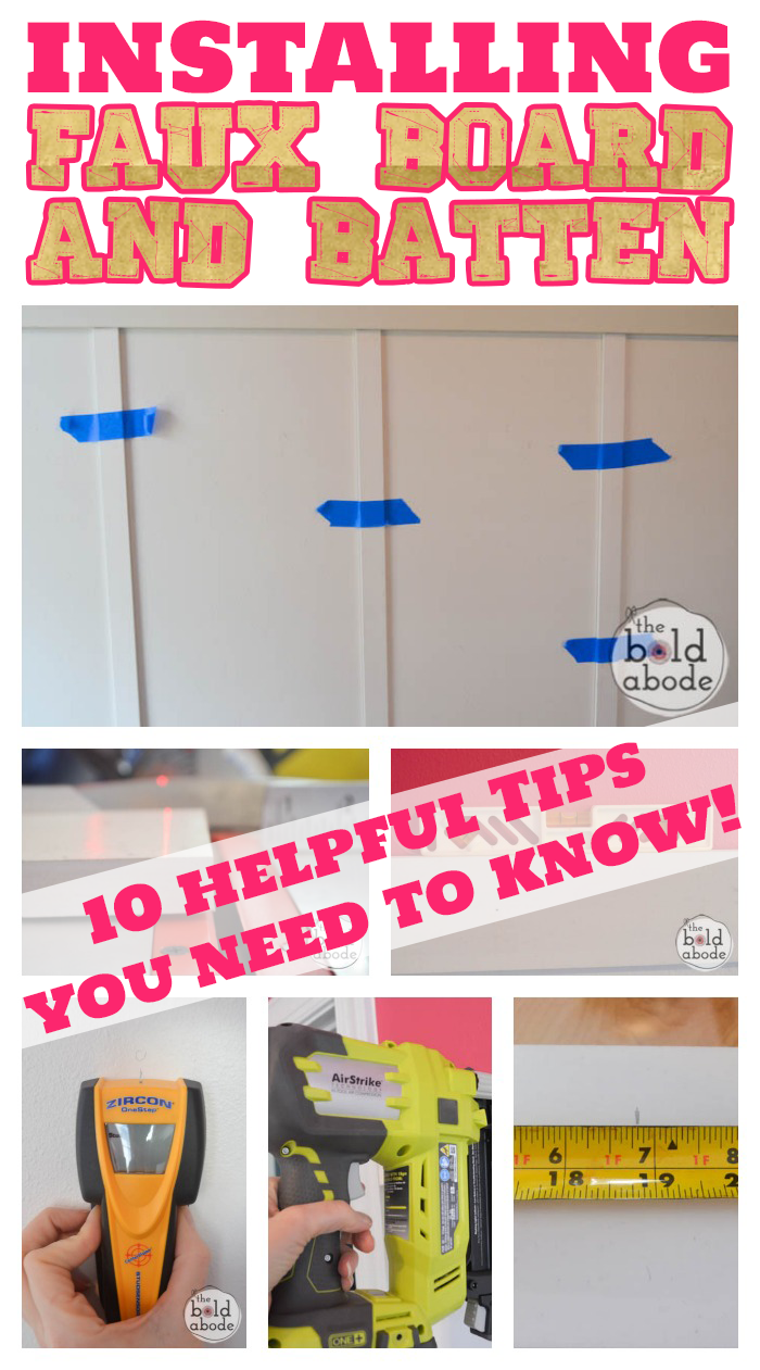 10 Tips for Installing Faux Board and Batten