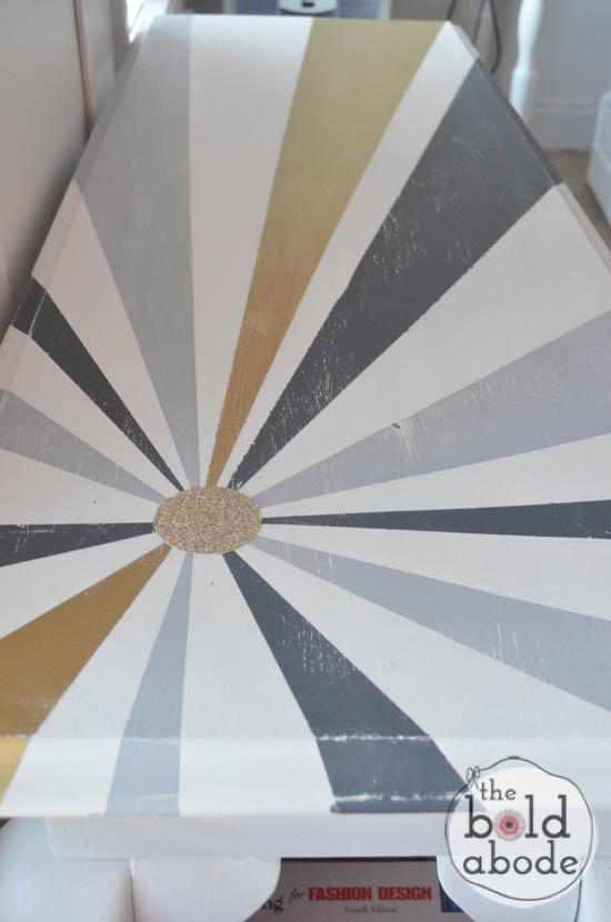 chalky paint sunburst console-13