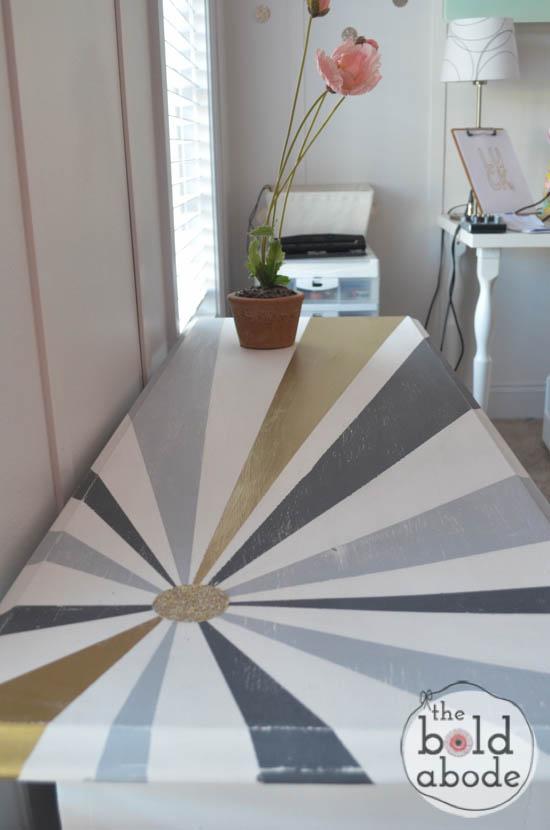chalky paint sunburst console-14