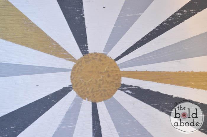 chalky paint sunburst console-16