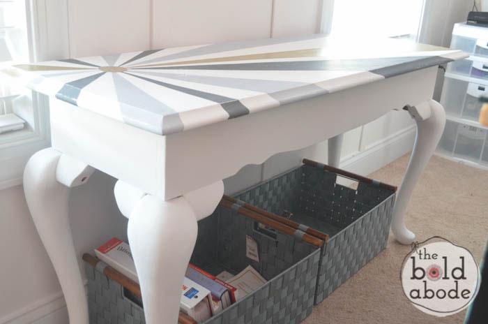chalky paint sunburst console-8