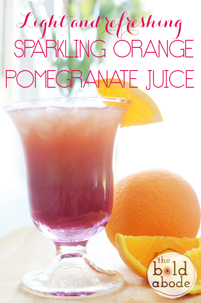 This Sparkling Orange Pomegranate Juice is so refreshing and such a great alternative to soda!  It's super easy to make, too.