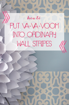 stenciled-wall-stripes