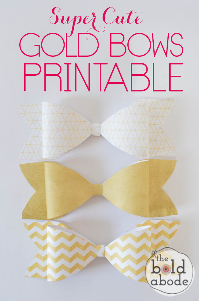 Make your special gifts sparkle with these Super Cute Gold Bows Printable!