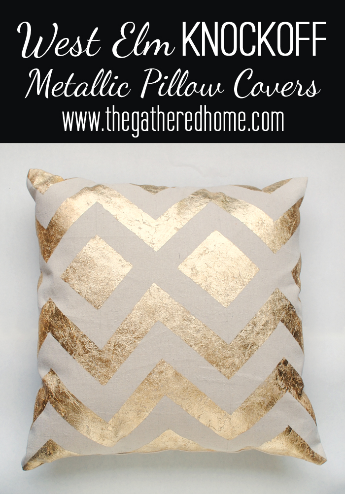 west elm knockoff metallic pillow covers black2