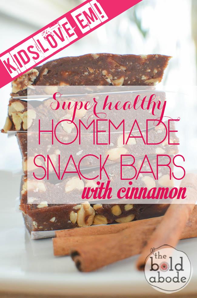 Homemade Cinnamon Snack Bars
