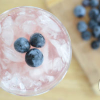 All Natural Sparkling Blueberry Water