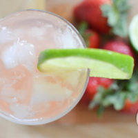 All Natural Sparkling Strawberry Limeade
