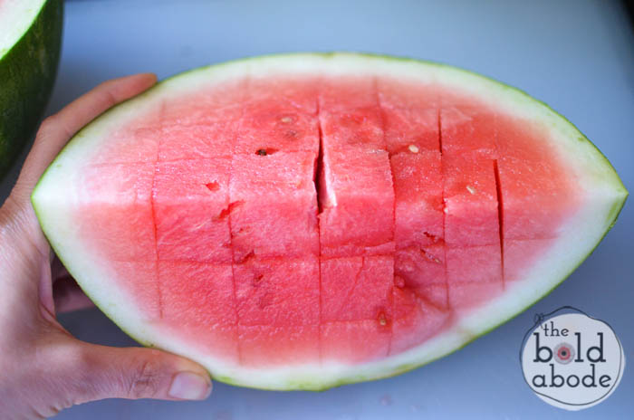 how to cube a watermelon-4