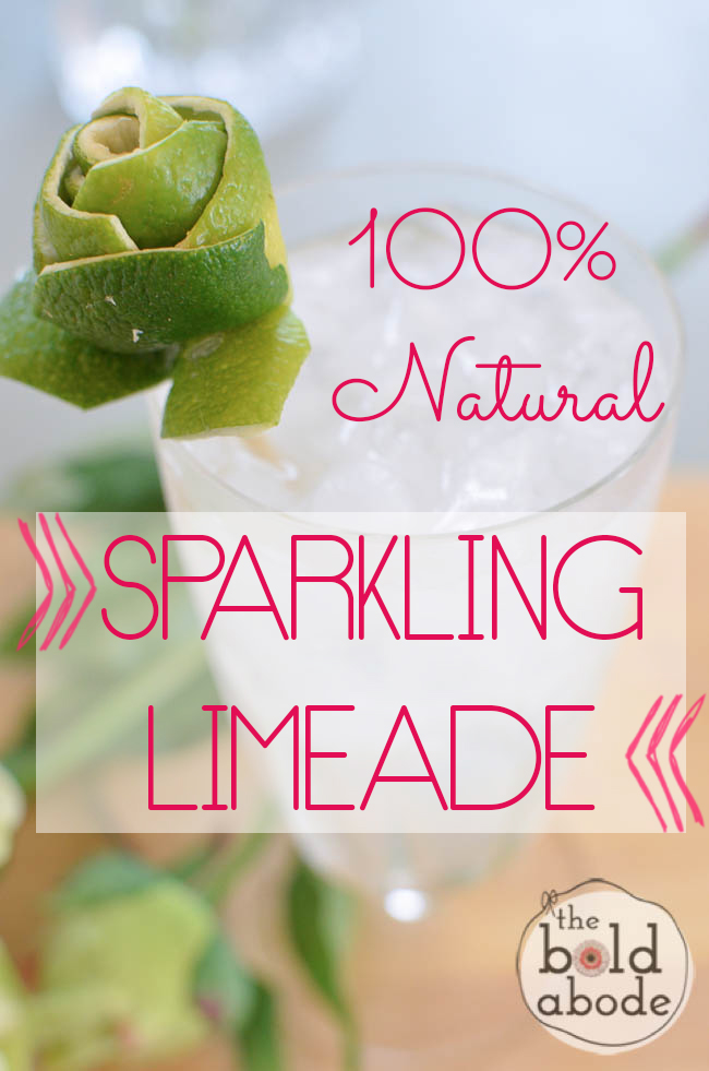 Stop drinking that nasty, brown chemical-laden liquid!!!  This 100% Natural Sparkling Limeade tastes SO much better and is SOOOO  much better for you!