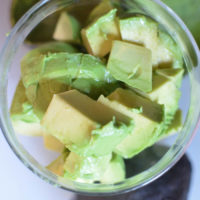 How to Cube an Avocado {in seconds!}