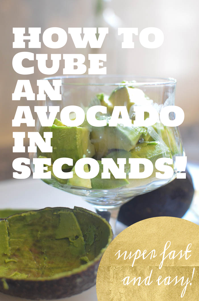 How to cube an avocado in seconds!  Easy and super fast!