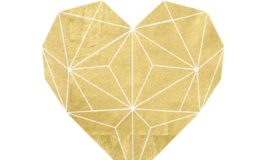There nothing like a Gold Foil Geometric Heart Printable.