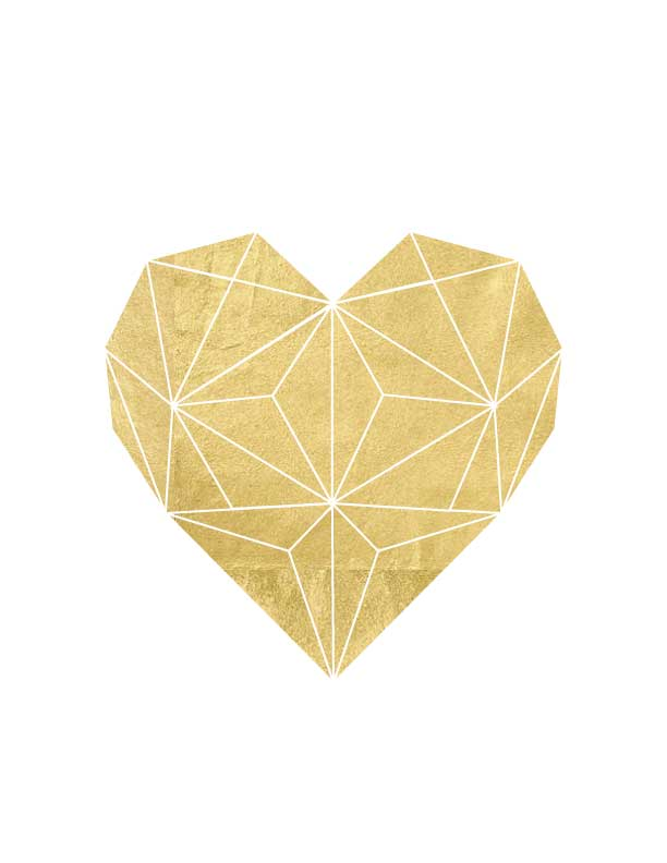 image about Printable Gold Foil called Gold Foil Geometric Middle Printable
