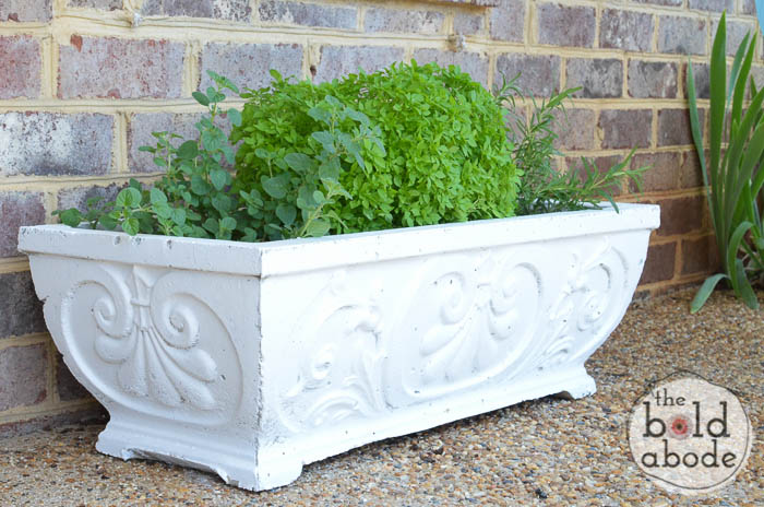 how to paint concrete planters