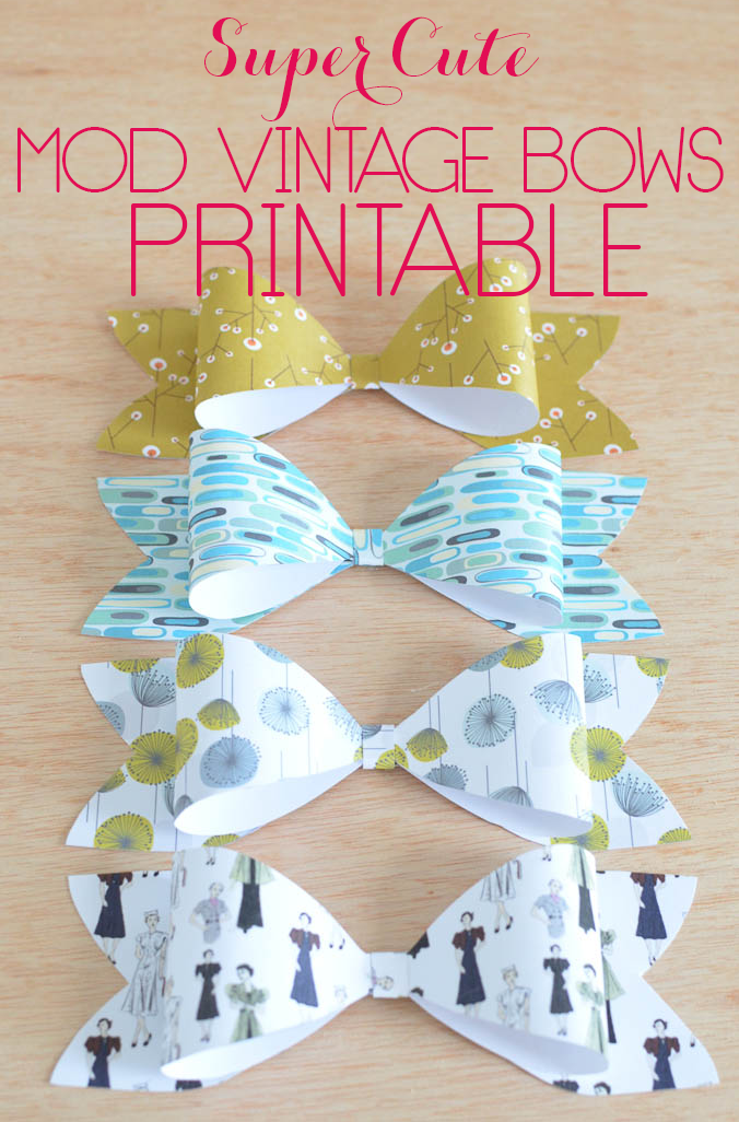 Super Cute Mod Vintage Bows are for the Vintage Mod lover in you! Super cute.