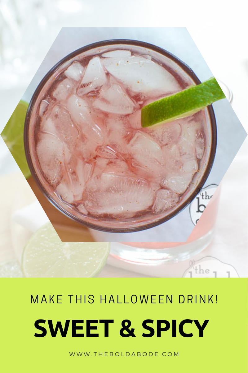 Top view of sweet and spicy water with lime