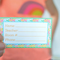 Back to School Backpack Name Tag
