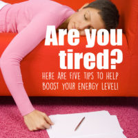 5 Simple Tips to Boost Your Energy Level