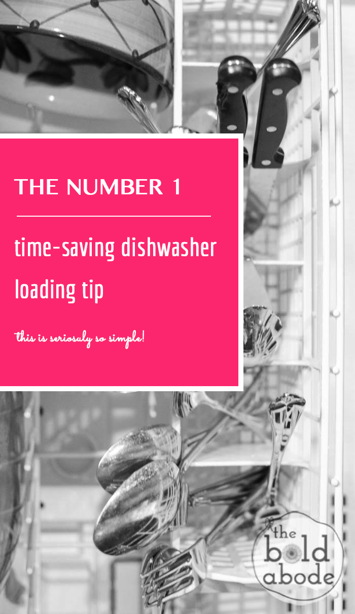 The NUMBER 1 Time-saving Dishwasher Loading Tip... seriously so simple!
