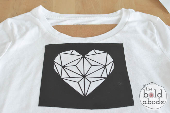 geometric heart t-shirt-3