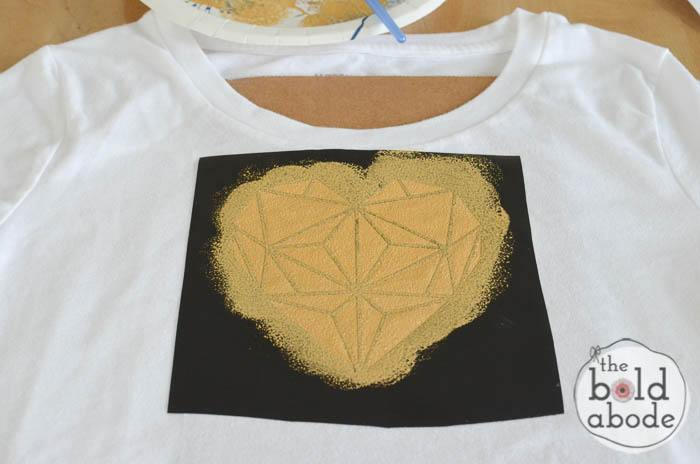 geometric heart t-shirt-5